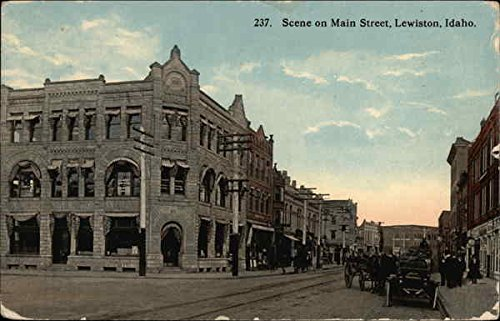 Scene on Main Street Lewiston, Idaho Original Vintage Postcard