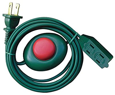 Power First 12 ft. 3-Outlet Foot Switch Extension Cord 16/2