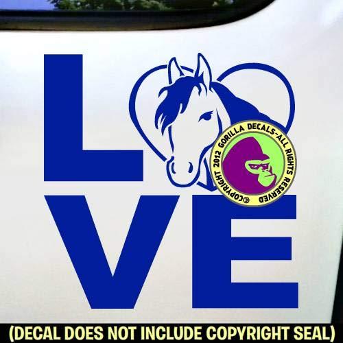 LOVE Word Rider Vinyl Decal Sticker A HORSE IN HEART