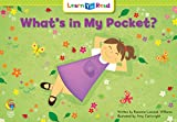 What's in My Pocket?, Rozanne Lanczak Williams, 0916119459