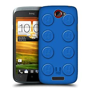 Head Case Designs Blue Building Blocks Protective Snap-on Hard Back Case Cover for HTC One S