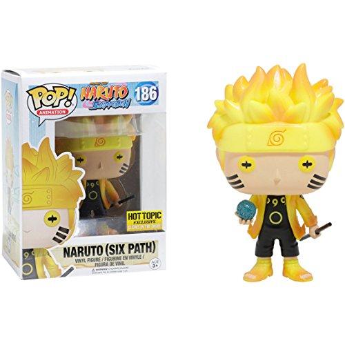 Funko Naruto [Six Path Glow-in-Dark] (Exclusivo para Hot Topic) ¡POP! Animación x Figura de vinilo de Naruto Shippuden + 1 paquete de tarjeta de comercio de Naruto gratis (12999)