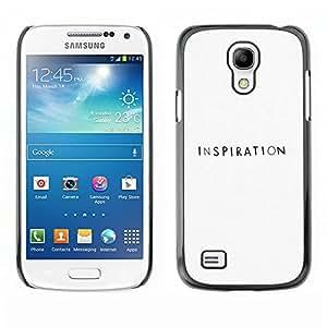 La inspiración Escritor Negro Blanco Motivación - Metal de aluminio y de plástico duro Caja del teléfono - Negro - Samsung Galaxy S4 Mini i9190 (NOT S4)