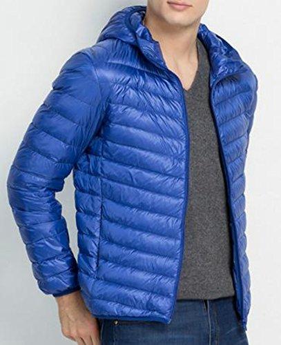 Hodded Coat Oversize Mens Down Jackets blue royal XXXL Lightweight EKU wpZqB