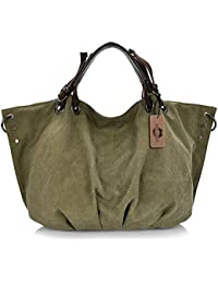 7f9c968dac KISS GOLD(TM) European Style Canvas Large Tote Top Handle Bag Shopping Hobo  Shoulder