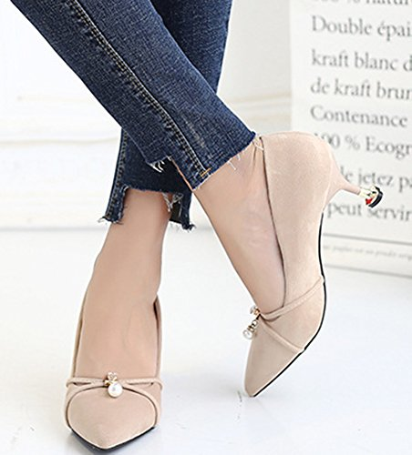 Aisun Mariage Sexy Femme Escarpins Chaussures Abricot De Cheville ASaTwZxAq