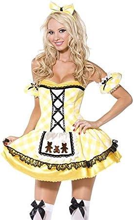 Disfraz de Ricitos de Oro Sexy amarillo – Talla M: Amazon.es ...