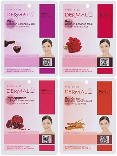 DERMAL Collagen Essence Full Face Facial Mask Sheet (Pack of 24) by DERMAL (Image #1)