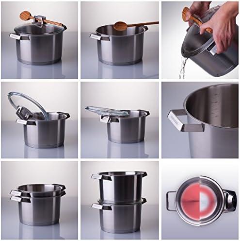 Mehrzer 200003 Pot Antirouille pour Cuisiner la Viande Acier Inoxydable 18/10 Diamètre 20 cm