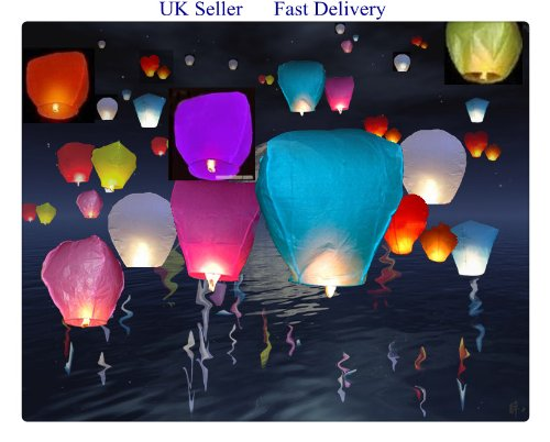 10 Muti-Colour Chinese Sky Lanterns A LIITTLE TREE M-10