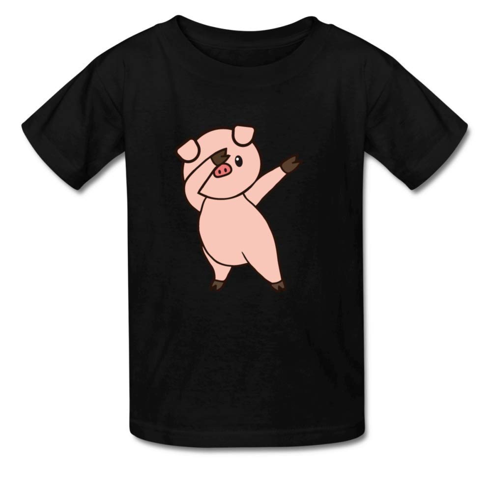 Bart Perkin Boys Girls Kids Pig Dab Dabbing Funny Novelty O-Neck T-Shirt