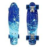 """PHAT ® 22"""" Complete Plastic Retro Mini Skateboard Cruiser Street Surfing Skate Banana Board"""