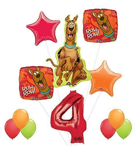 Scooby Doo 4th Birthday Party Supplies and Balloon - Latex Doo Scooby