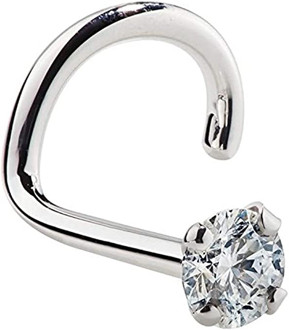 Genuine .03ct Diamond Nose Stud in 18K Gold,Diamond Nose Pin,Diamond Nose Ring,Nose Piercing,Gold Nose Stud,Nose Pin,Gold Studs,Jewelry