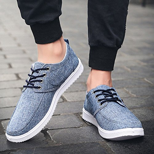 Zzzz Confortables Mode Chaussures Lacets Toe Nouvelle Ville Travail Flat Baskets Rondes Occasionnels Blue Sneakers Sport rwFxOqrf4