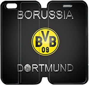 iPhone 6 6S 4.7 inch Cell Phone Case Borussia Dortmund BVB 09 FC Logo Colorful Printing Leather Flip Case Cover 3ERT493131