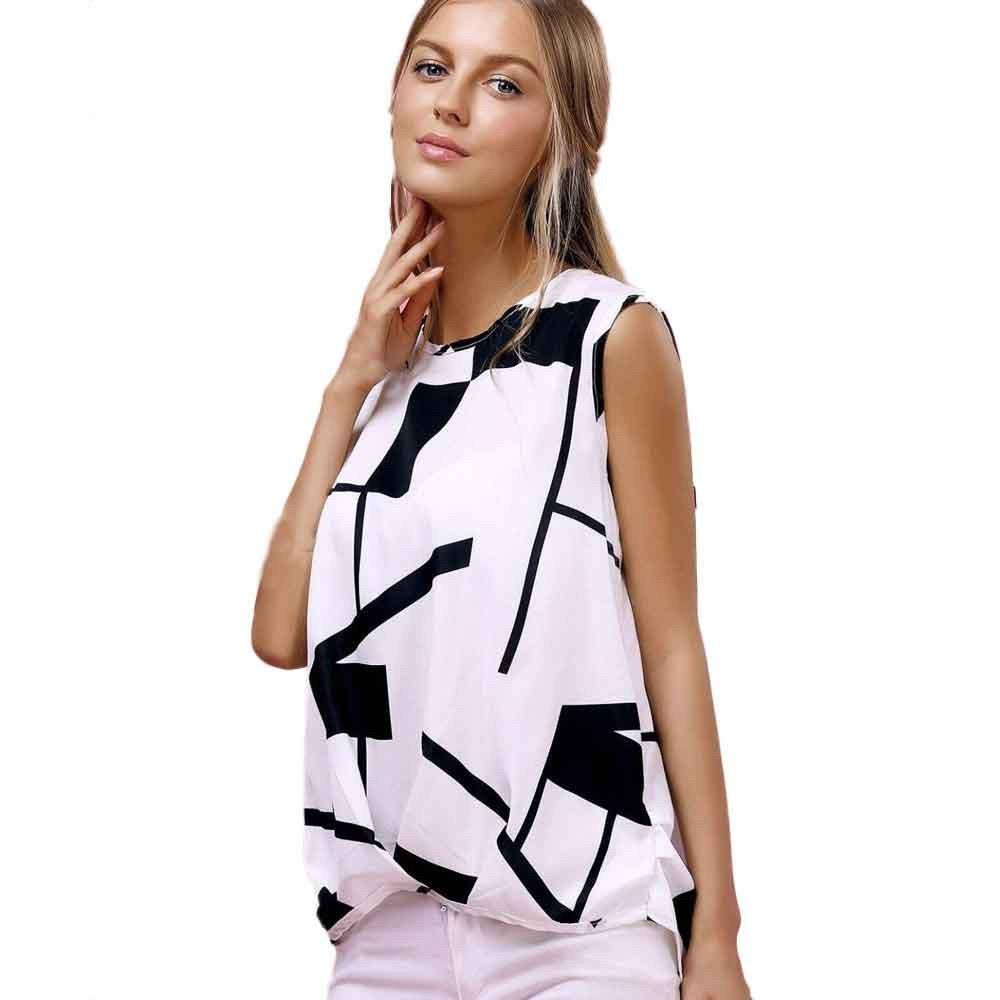 Women Tank Top Summer Sexy Halter Top Fashion Square Plaid Vest White