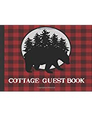 Cottage Guest Book: Rustic red plaid Cottage/Cabin Welcome Book: Vacation Rental Guest Book, Airbnb, Guest House, Bed and Breakfast, Mountain Home, Lake Home, Beach House, record lasting memories
