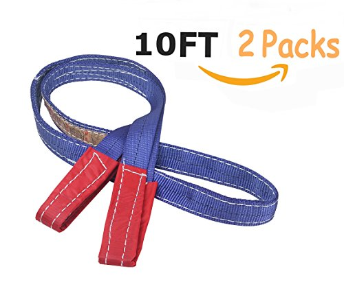 Heavy Lifting Straps Lift Sling Moving Straps with Grip (10 Feet & 2 Packs) Forklift and Truck for Moving Furniture Beds Sofa Appliances Heavy Objects, 2200 lbs Load (2200 Appliance)