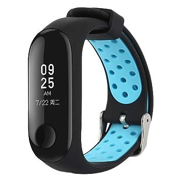 WEIHUIMEI - Correa de Repuesto para Reloj Inteligente Xiaomi Mi Band 3 (1 Unidad): Amazon.es: Deportes y aire libre