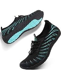7e58b6f3d4d9b3 Womens Mens Water Sports Shoes Outdoor Quick Dry Barefoot Athletic Aqua Shoe  for Beach Swim Pool