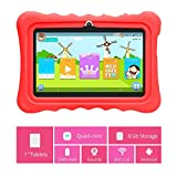 Yuntab 7 Inch tablet Allwinner A33,1.5Ghz Quad Core Google Android 4.4 Tablet PC,512MB+8GB ,Dual Camera,WiFi,Bluetooth,G-sensor,Support SD/MMC/TF Card (Q88H, Red)