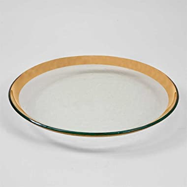 Annieglass 12 Inch Buffet Plate - Roman Antique (Gold)