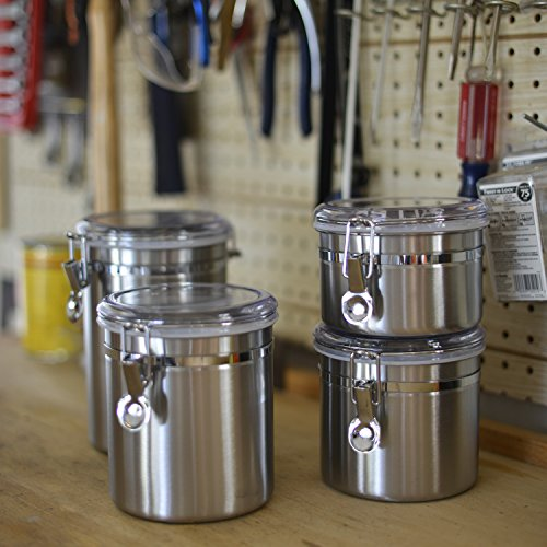 Anchor Hocking Round Stainless Steel Airtight Canister Set
