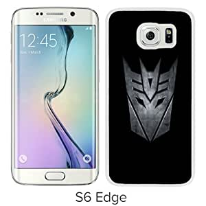 Newest Samsung Galaxy S6 Edge Case ,Transformers Decepticon White Samsung Galaxy S6 Edge Cover Case Hot Sale And Popular Designed Phone Case