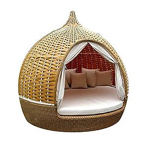 Rattan Birdcage Patio Day Bed Round Sofa