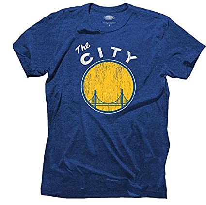 brand new 4cad9 cba7b Golden State Warriors Vintage The City Logo Distressed Premium T-shirt