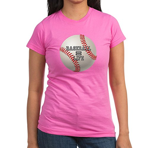 (Royal Lion Junior Jr. Jersey T-Shirt (Dark) Baseball Equals Life - Raspberry, Large)