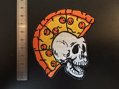 thermocollant PUNK TETE PIZZA Toppe aufnaher toppa