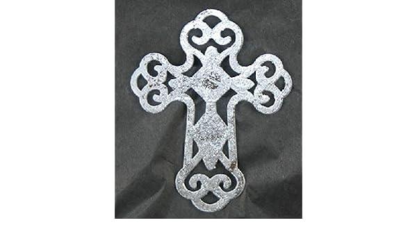 Peace Encore Patio Screen Saver Silver Swirl Metal Cross