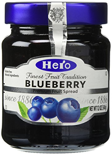Hero Fruit Spread Blueberry 12 oz Jar (Hero Jelly)