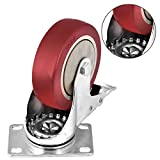 """Moogiitools 4"""" Swivel Rubber Caster Wheels with"""