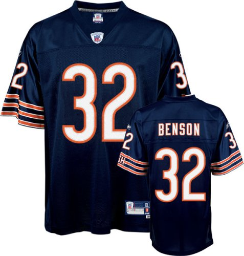 premium selection bc422 7f5e9 Amazon.com: Cedric Benson Navy Reebok NFL Premier Chicago ...