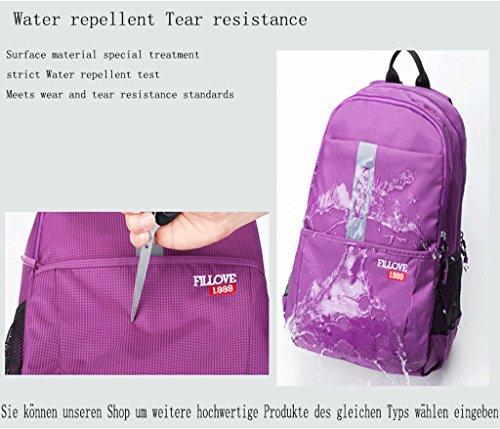 ZOUQILAI Outdoor-Bergsteigenbeutelfreizeitreise-Taschenmode trägt Tasche zur Schau Rot