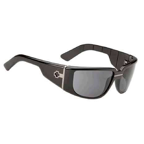 Spy Optic bronsen gafas de sol - negro brillante w/gris ...