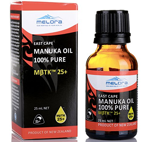 Melora Manuka Oil MβTK 25+, 25ml 100% New Zealand East Cape Essential Oil