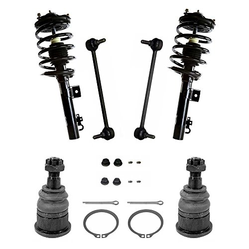 Prime Choice Auto Parts SUSPKG896 2 Lower Ball Joints 2 Sway Bar Links & 2 Complete Front Struts
