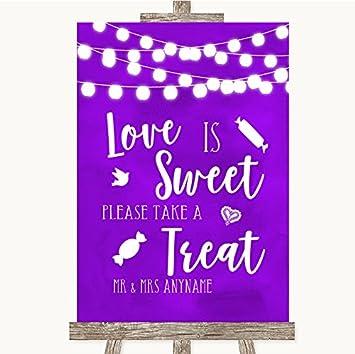 c4d034edfe3b Purple Watercolour Lights Collection Purple Watercolour Lights Love Is  Sweet Take A Treat Candy Buffet Wedding Sign: Amazon.co.uk: Office Products