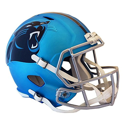 Carolina Panthers BLAZE Officially Licensed Speed Full Size Replica Football Helmet by Riddell