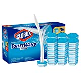 Clorox ToiletWand,Disposable Toilet Cleaning Rainforest Rush Refill 36 Count 1 Toilet