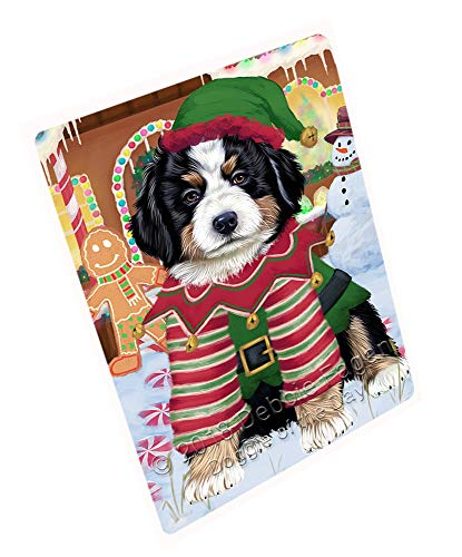 Doggie of the Day Christmas Gingerbread House Candyfest Bernese Mountain Dog Blanket BLNKT125058 (60x80 Fleece)