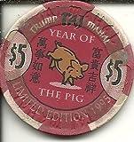 $5 trump taj mahal year of the pig casino chip atlantic city new jersey offers