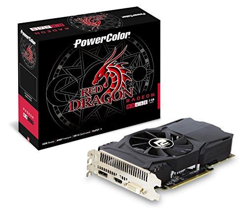 PowerColor AXRX 460 2GBD5-DH/OC Red Dragon GDDR5, Speichertakt Geschwindigkeit 1750MHz Grafikkarte grau