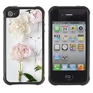 "Hypernova Defender Series TPU protection Cas Case Coque pour Apple iPhone 4 / iPhone 4S [Composición del arte del dibujo en blanco""]"
