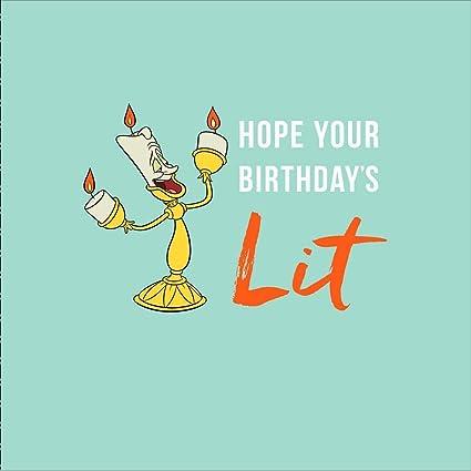 Tarjeta de cumpleaños de la Bella y la Bestia de Disney ...