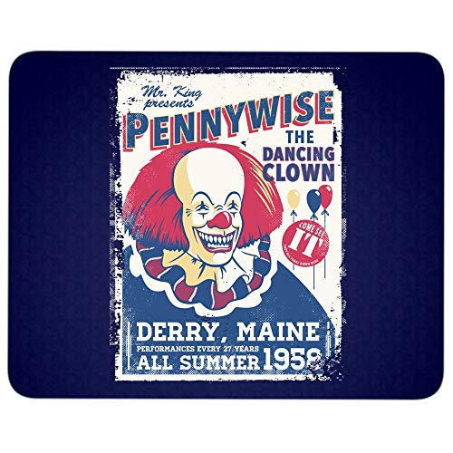 Pennywise The Dancing Clown Mouse Pad for Typist Office, Bob Gray Quality Comfortable Mouse Pad (Mouse Pad - Navy)
